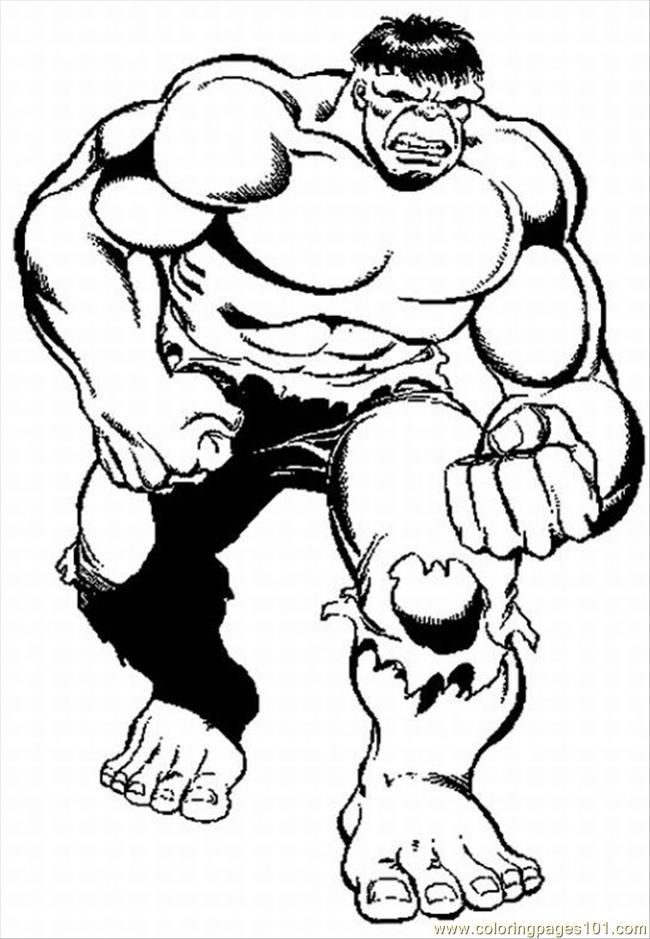Coloring Pages Hulk Free Lrg Cartoons