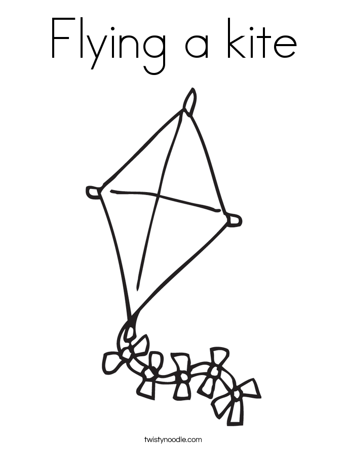 Free Kite Coloring Pages Coloring