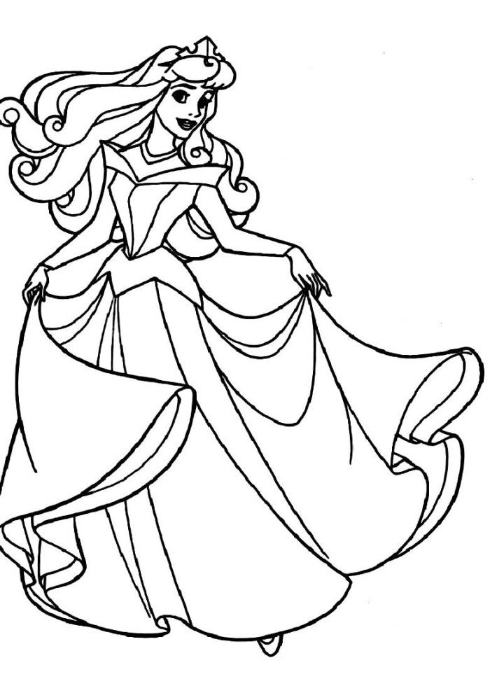 Coloring Pages Of Sleeping Beauty