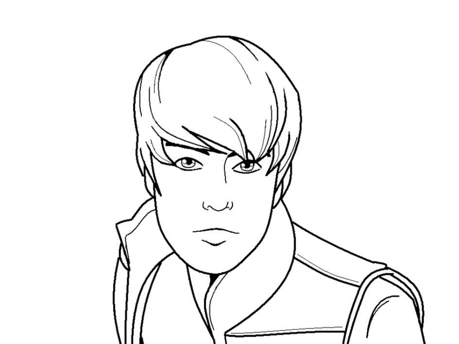 coloring pages justin bieber print - photo#11