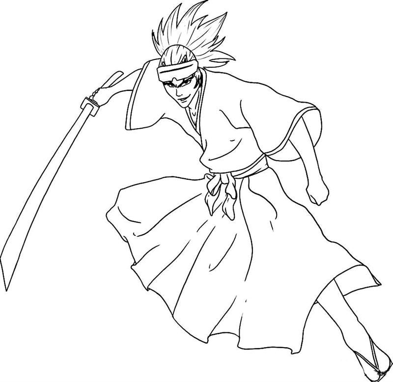Bleach Anime Coloring Pages Coloring