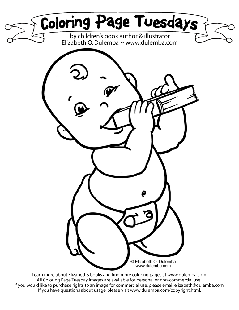 Baby coloring pages az coloring pages for Newborn baby coloring pages