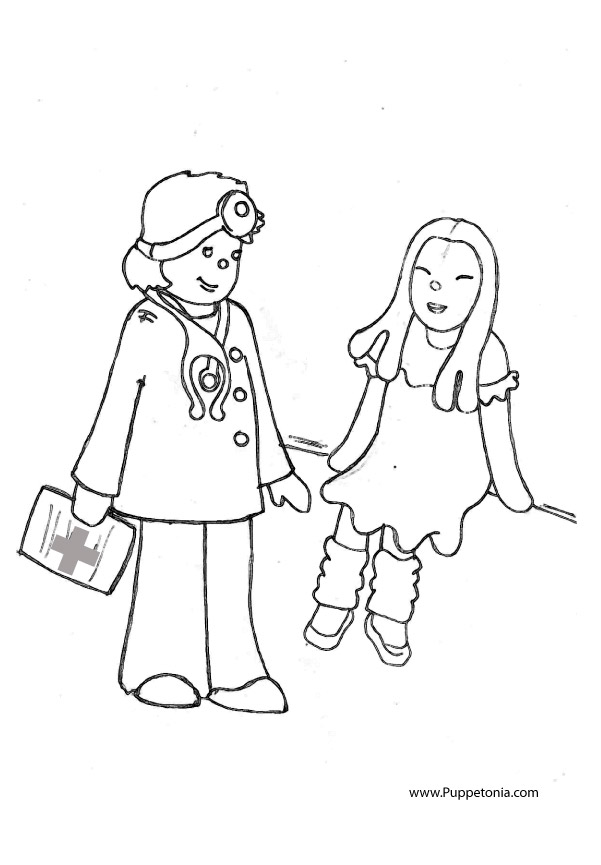 kid doctor coloring pages - photo#22