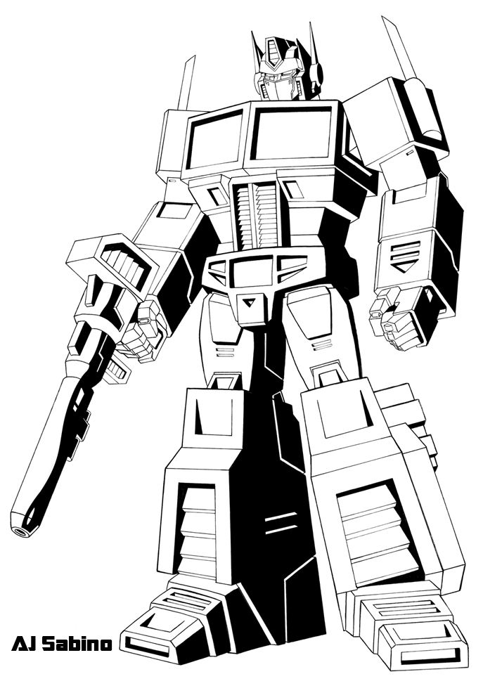 coloring pages optimus prime - photo#10