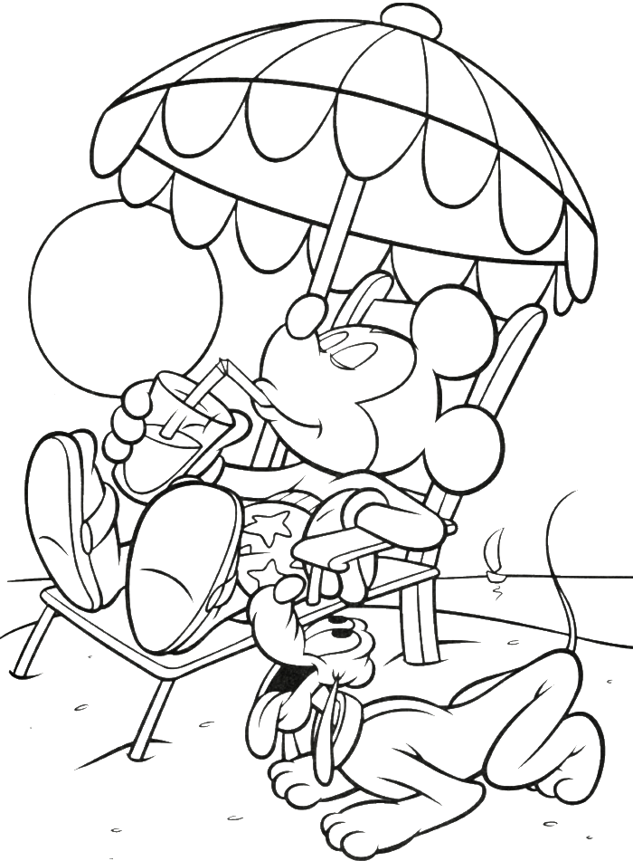 mickey mouse thanksgiving coloring pages - photo#24