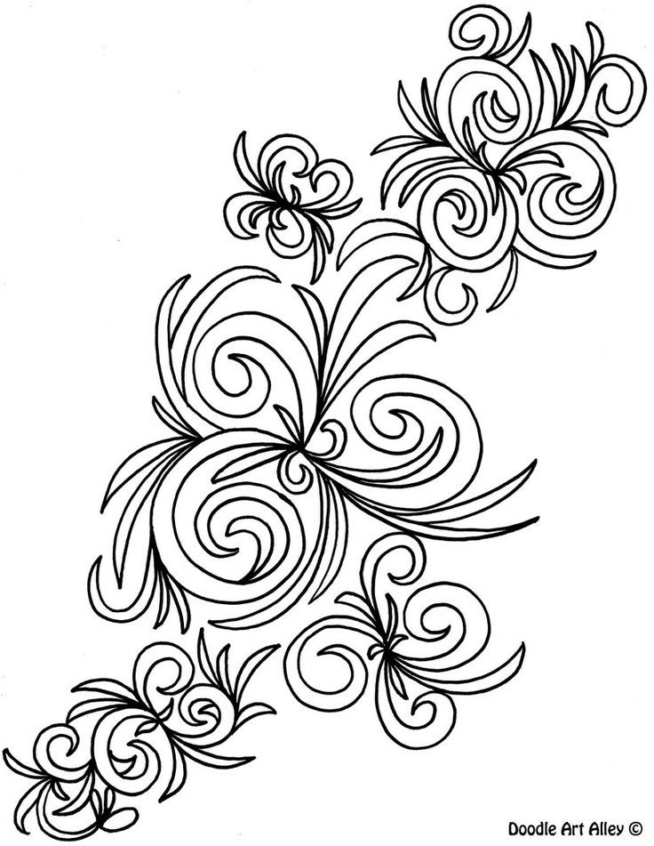 abstract coloring pages doodle art alley color therapy az coloring pages