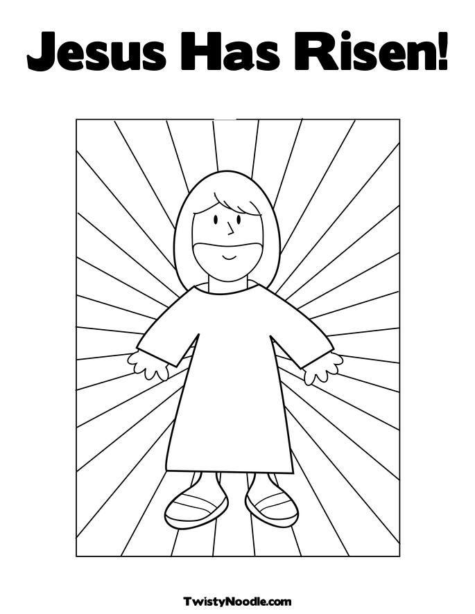Resurrection of jesus christ coloring pages - Hellokids.com | 886x685