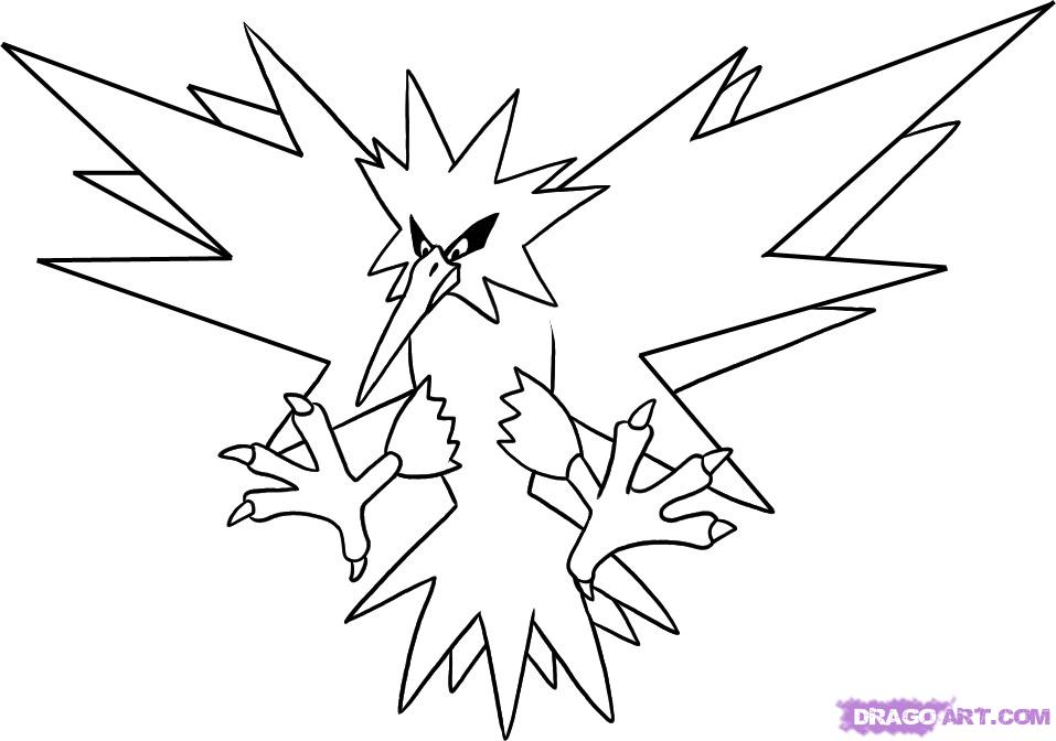all legendary pokemon coloring pages - photo#3