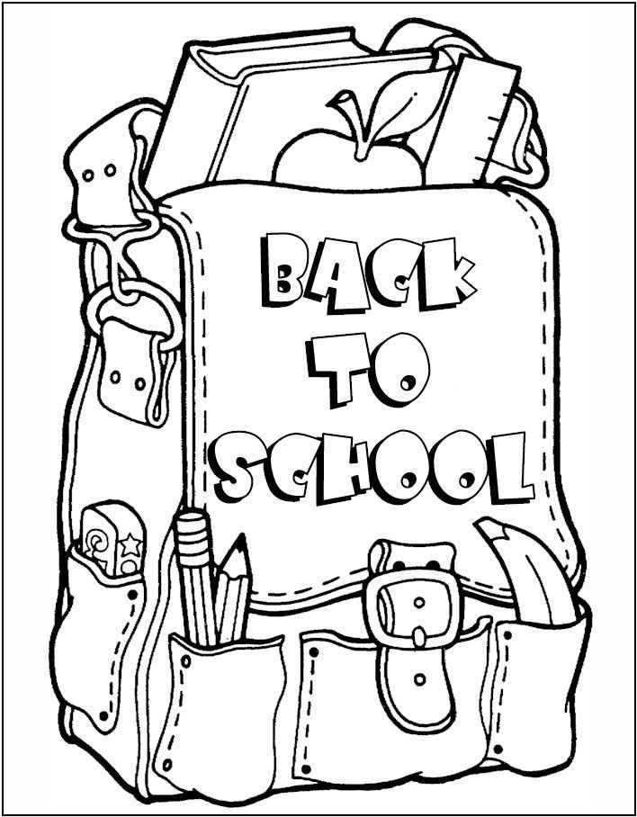 back to school coloring pages for toddlers - backpack coloring pages coloring home