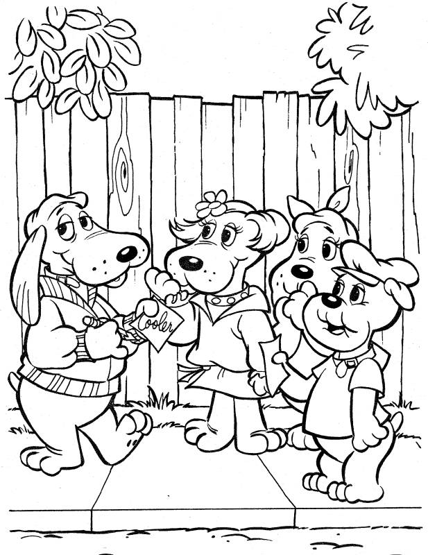 the pound puppies coloring pages - photo#1