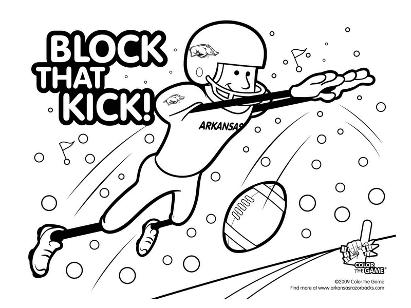christmas football coloring pages - photo#9