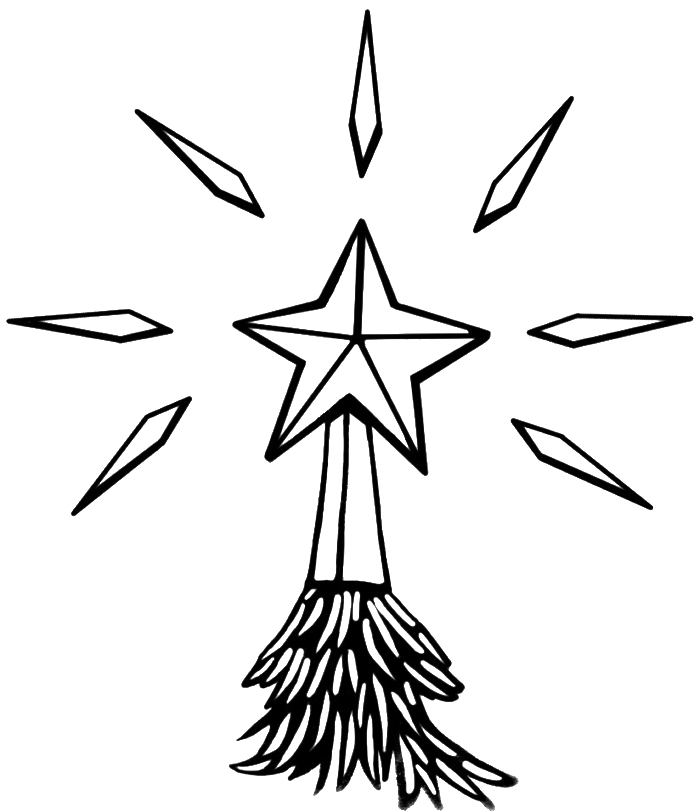 Christmas Star Coloring Page - Coloring Home