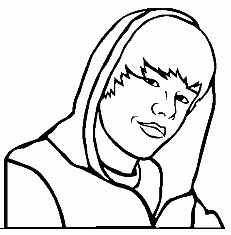 Justin Bieber Coloring Pages Print - HD Printable Coloring Pages