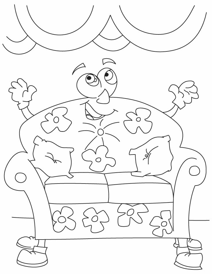 the big comfy couch Colouring Pages