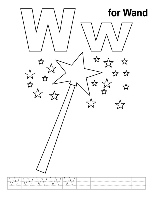 Wand Coloring Page w For Wand Coloring Page With
