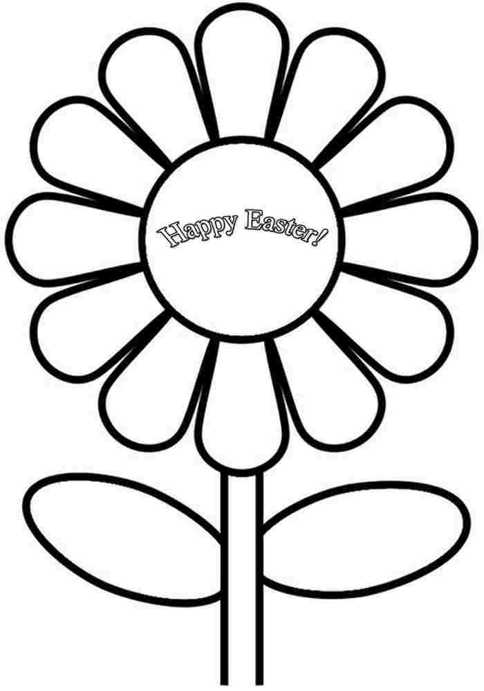 Free Printable Colouring Pages Easter Flowers For Kids