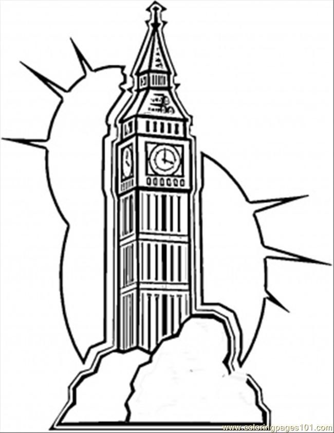 Coloring Pages Big Ben In London Countries Great Britain