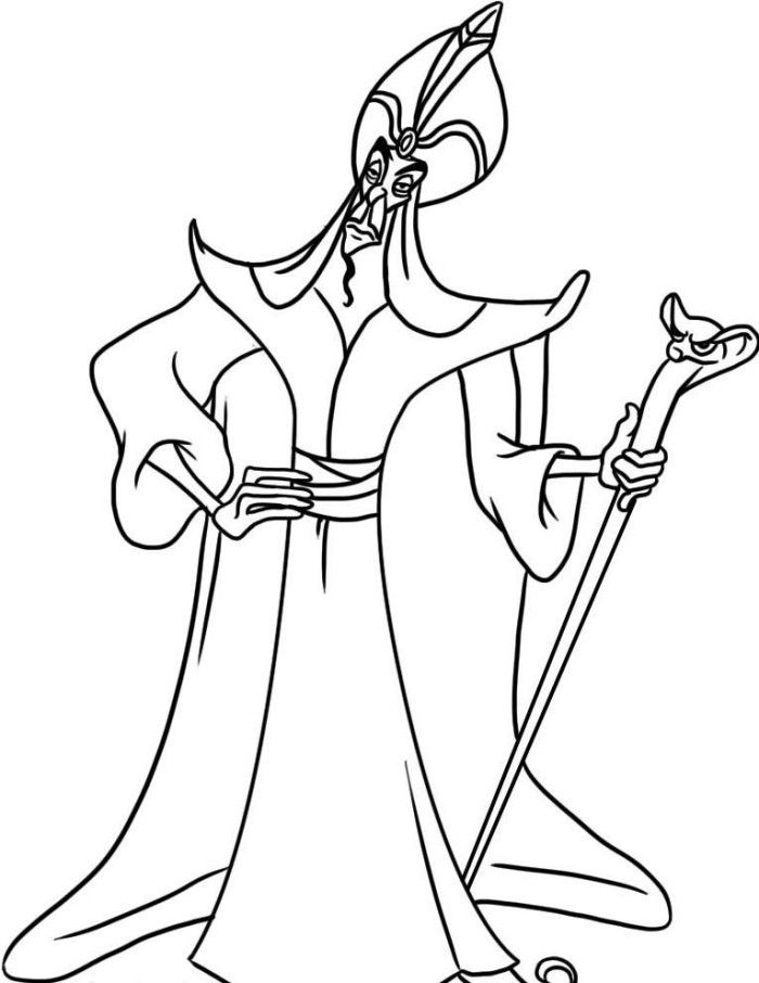 Disney Jafar Coloring Pages Aladdin