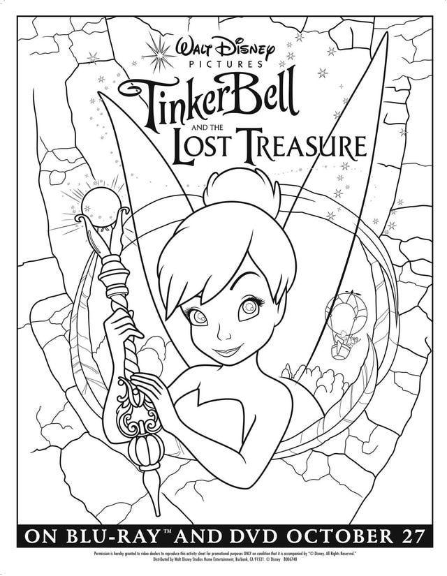 Coloring Pages Disney Fairies Pixie Hollow
