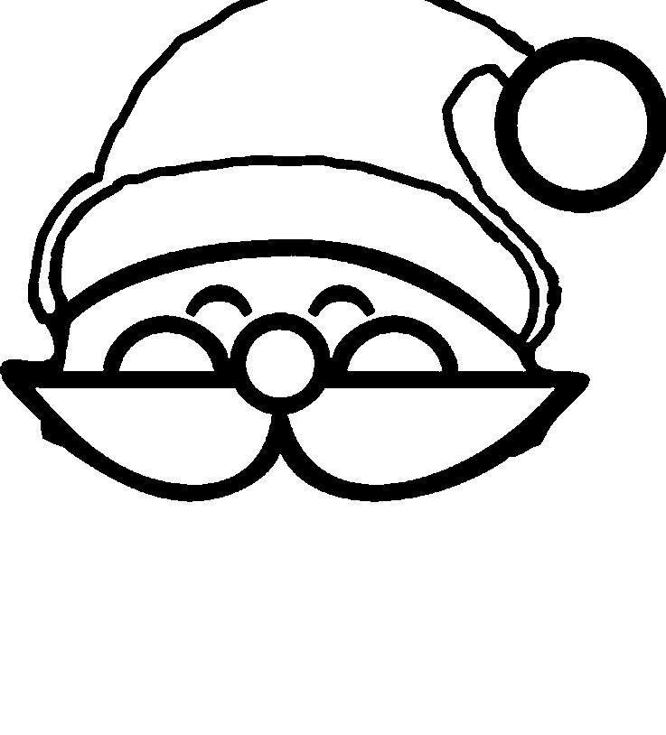 santa face coloring page printables - santa hat christmas hat that is long and fascinating coloring