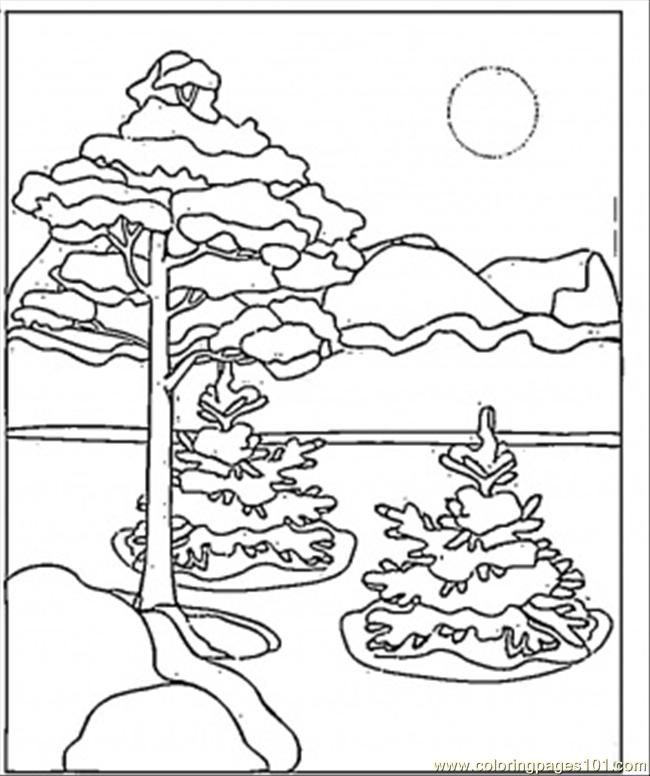 Winter Scenes Coloring Pages