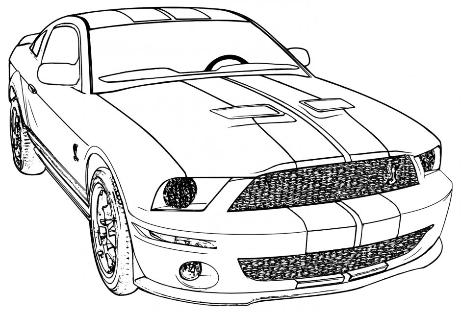 mustang coloring pages to print - photo#6