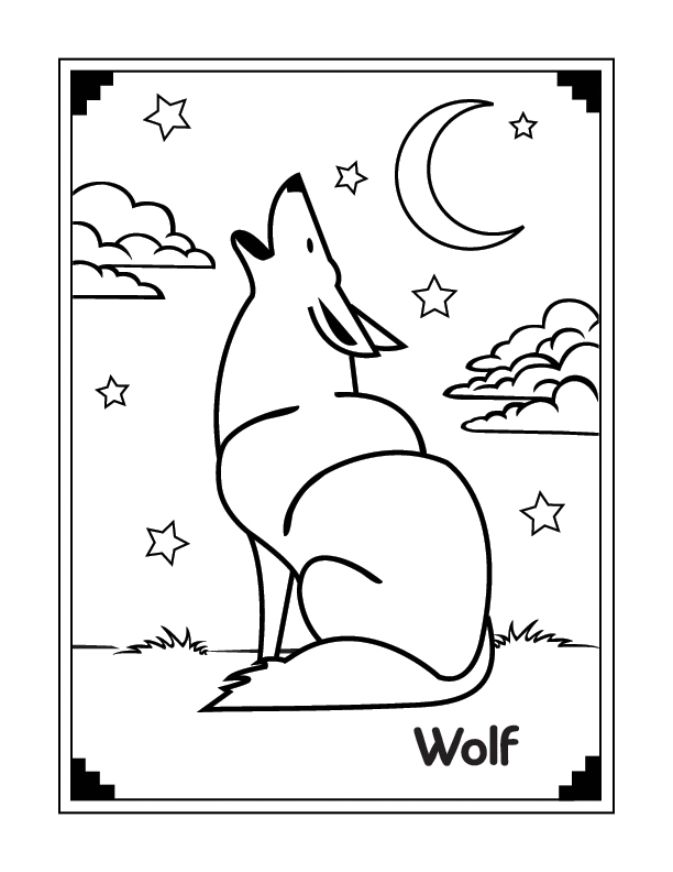 wolf coloring pages for kids - simple wolf coloring pages for kids great coloring pages