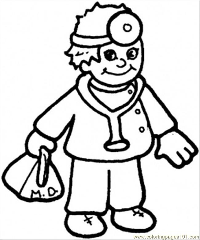 Coloring Pages Nice Doctor (Peoples > Profession) - free printable