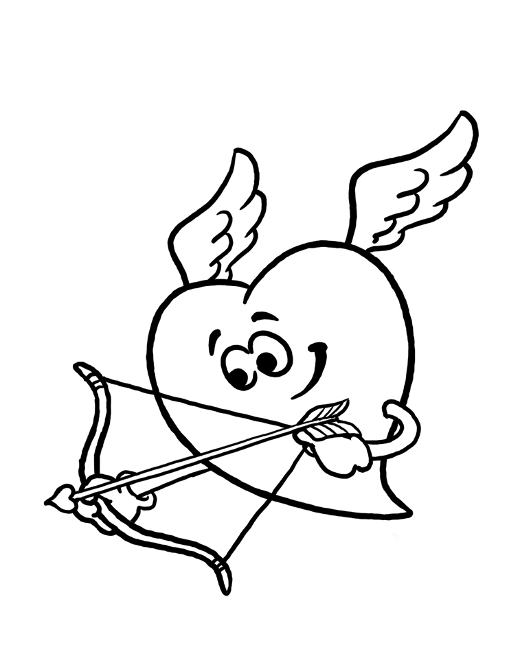 coloring pages cupid - photo#31