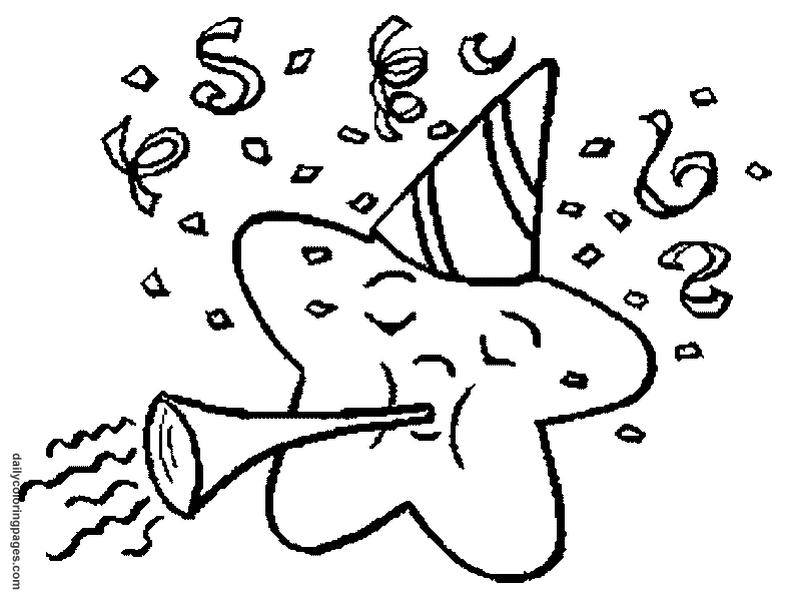 New Years Eve Coloring Pages - Coloring Home