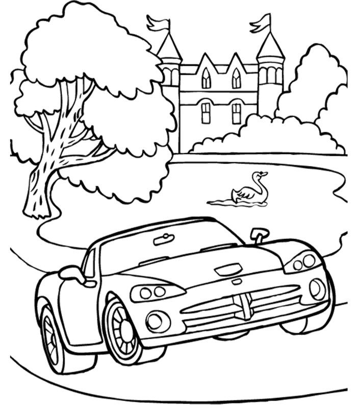 Drag Car Coloring Pages : Dodge cars online coloring home