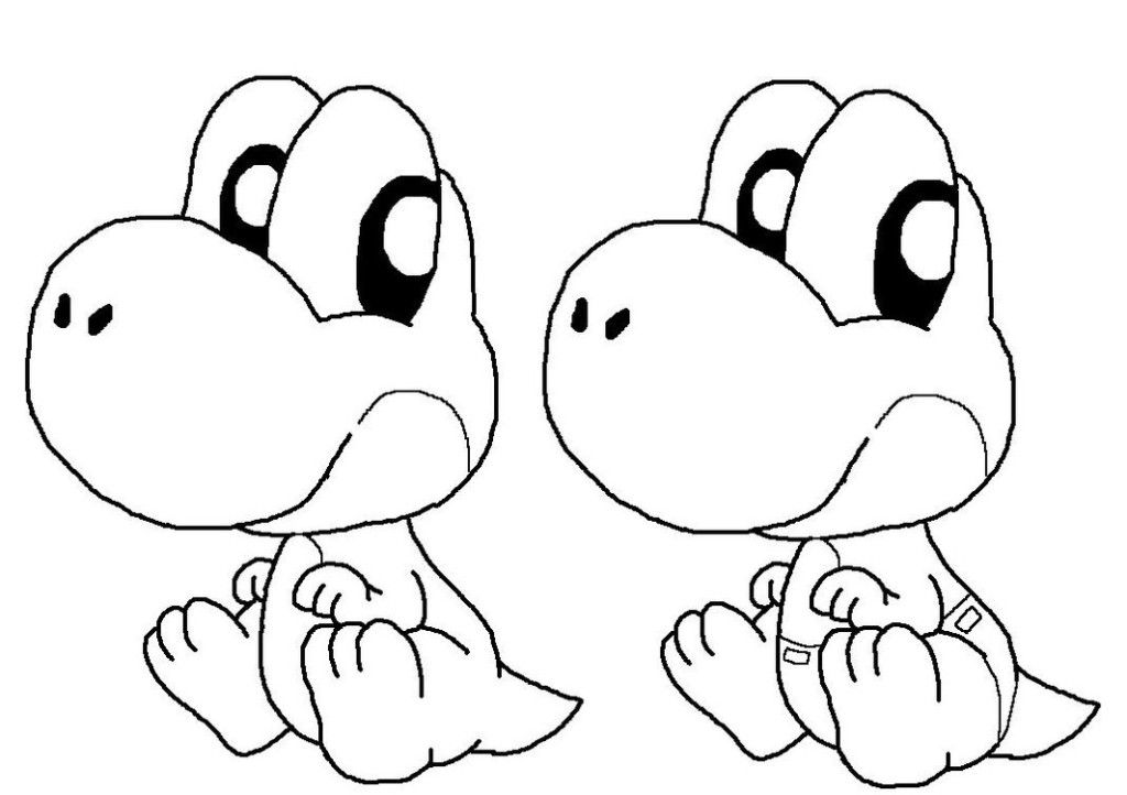 baby yoshi coloring pages  coloring home