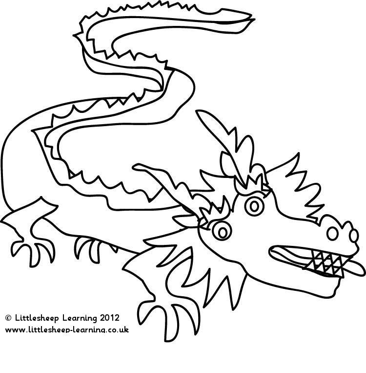 Chinese New Year Dragon Coloring Page Chinese New Year | Littlesheep