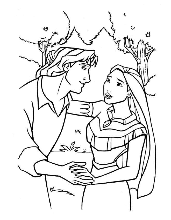Pocahontas Colouring Pages - Coloring Home