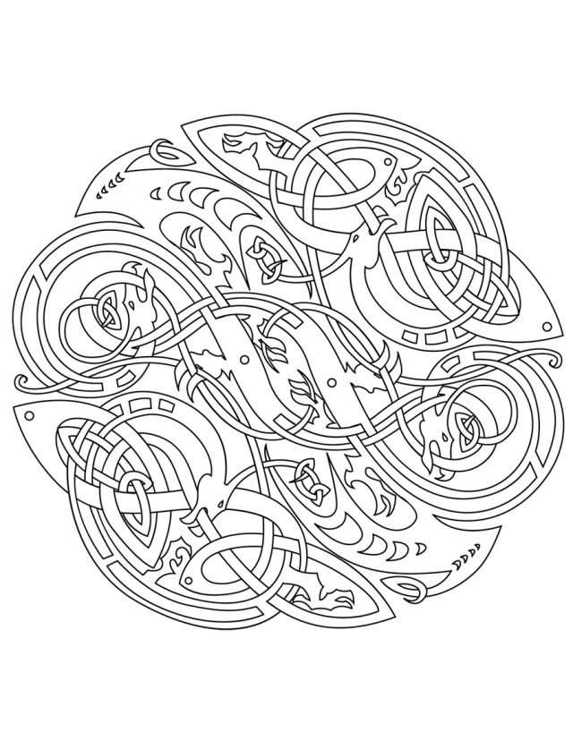 celtic adult coloring pages - photo#3