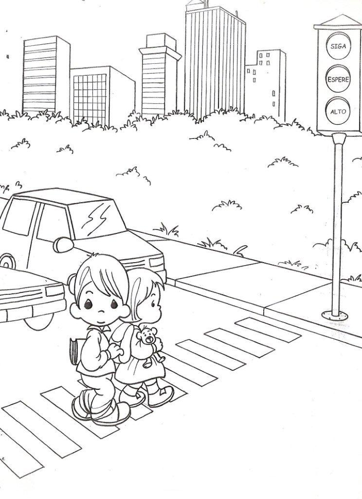 Drawing precious moments with traffic light coloring ~ Child Coloring