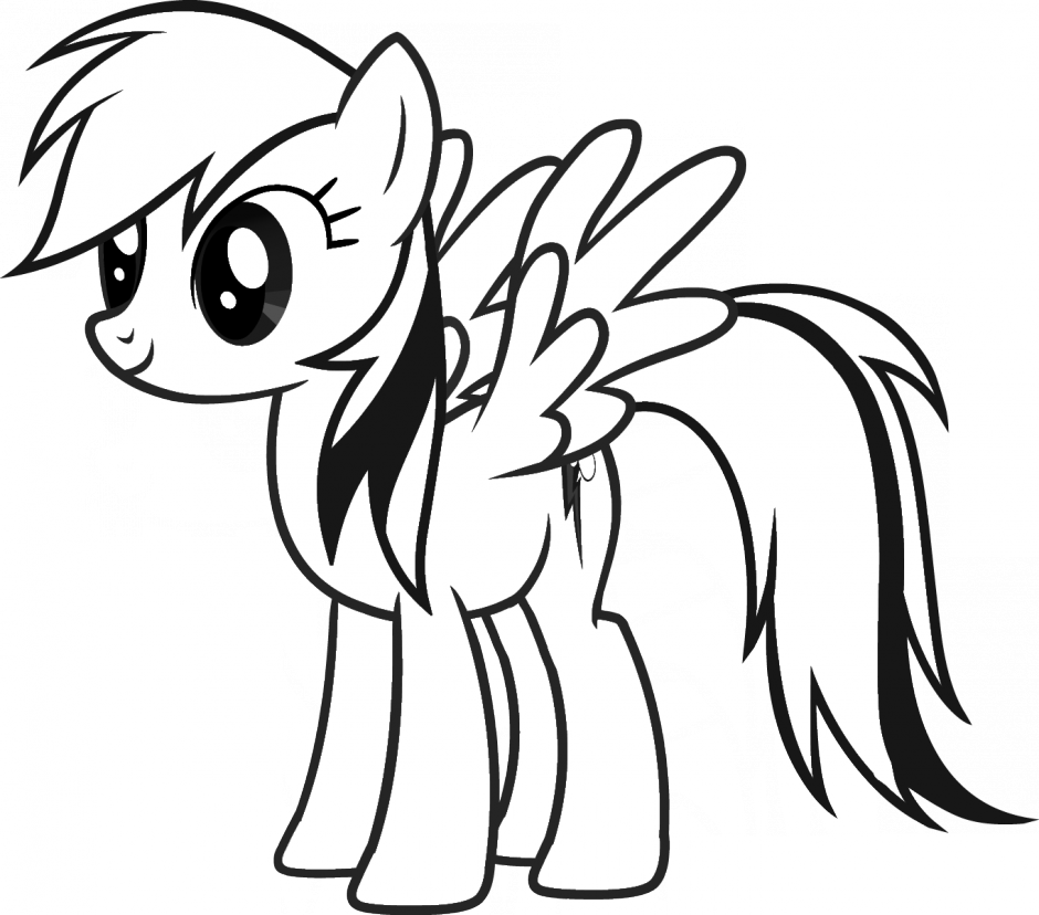 My Little Pony Coloring Pages Rainbow Dash Flying Sgmpohio 168186