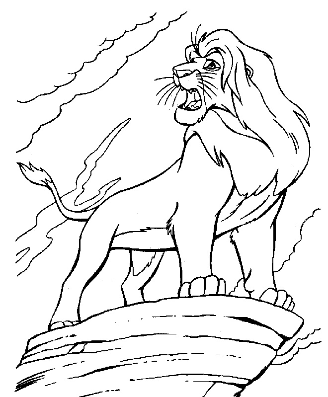 african lion coloring page - africa safari lion coloring page lion safari cartoon