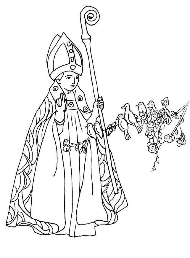 Catholic coloring pages printable for Saints coloring pages to print