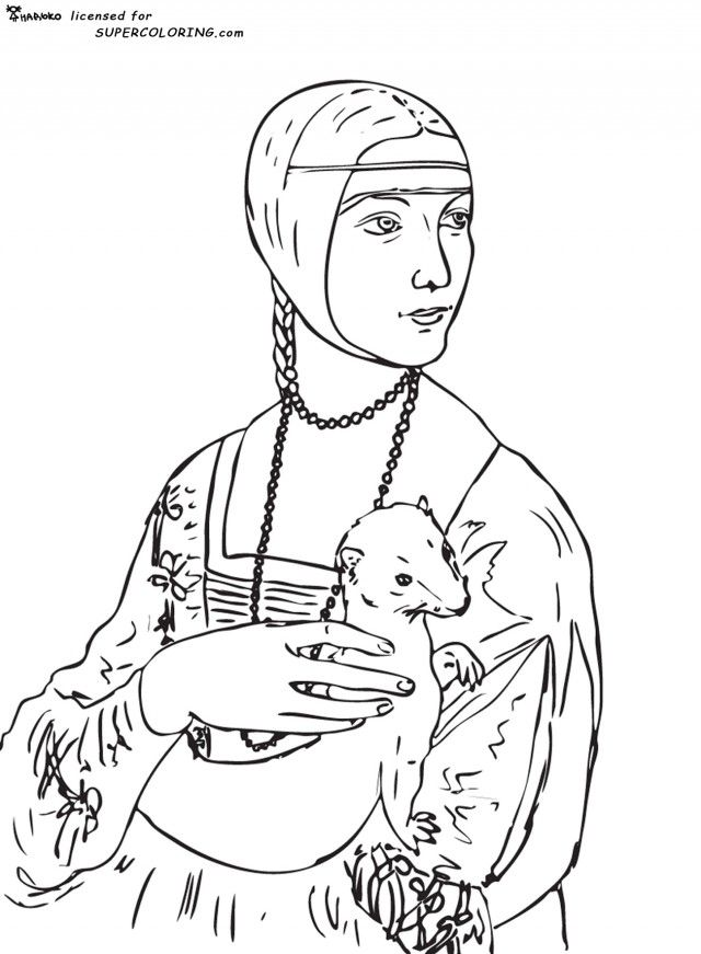 Mona lisa coloring page coloring home for Mona lisa coloring pages