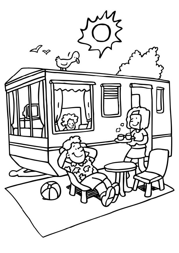 camping coloring 7 free coloring page site