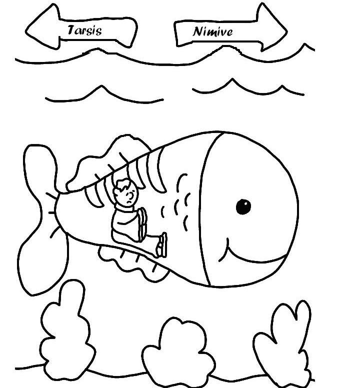 Jonah Coloring Pages Coloring Home