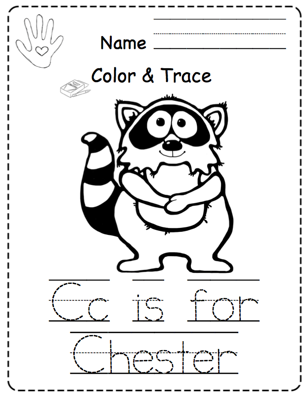 preschool printables toddler kissing hand no prep popular chester raccoon coloring page