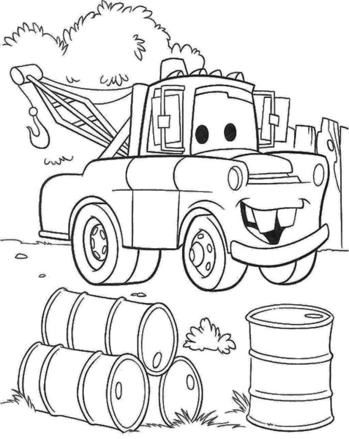 tow truck coloring pages - photo#6