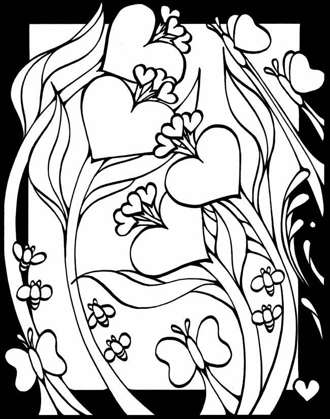 free browning deer heart coloring pages coloring page