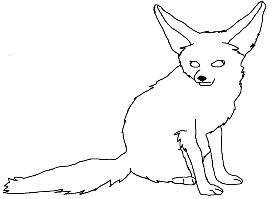 Anime Fennec Fox Coloring Pages Anime Fox Coloring Pages