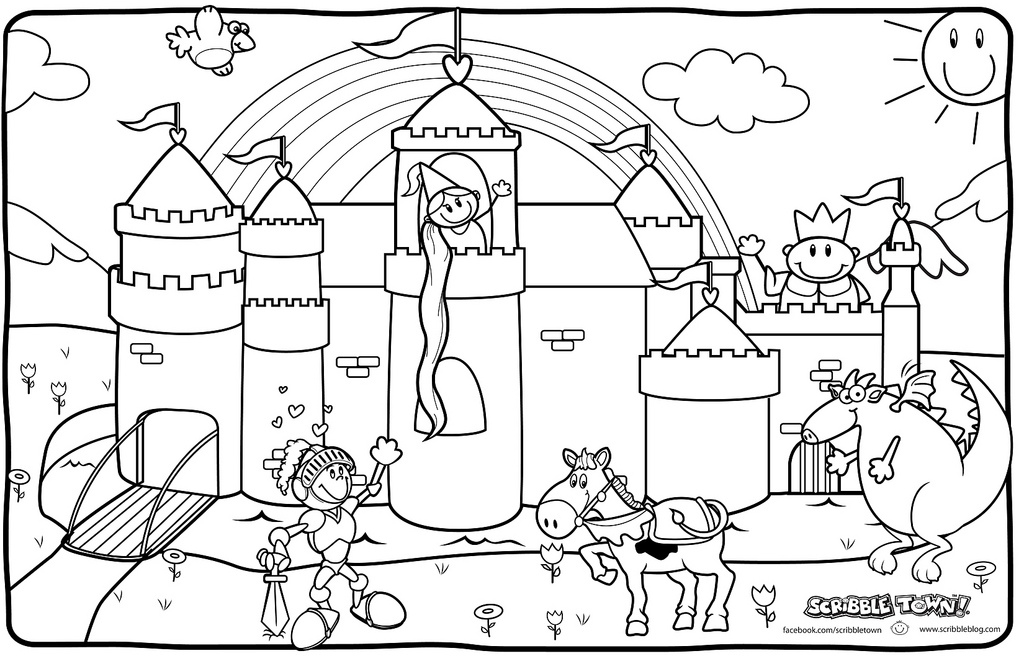 knights coloring page az coloring pages