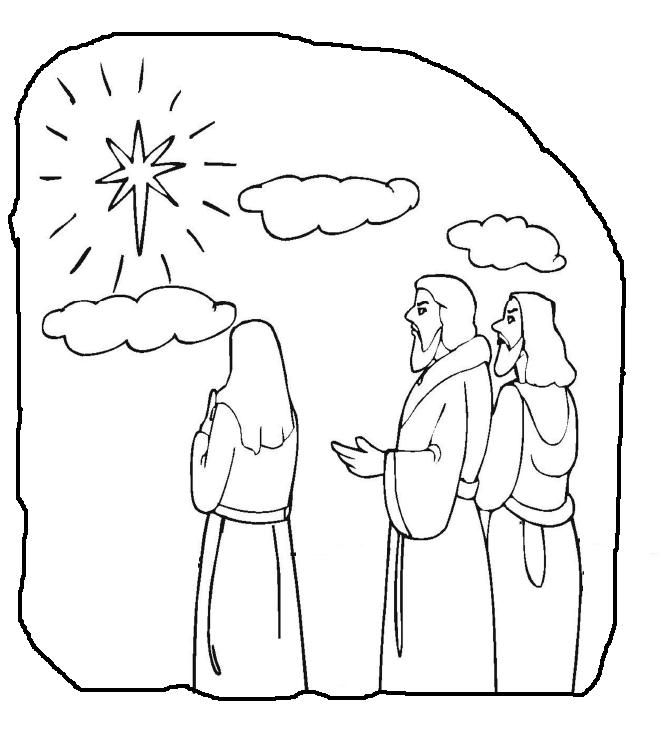 bible coloring pages wise men - photo#19