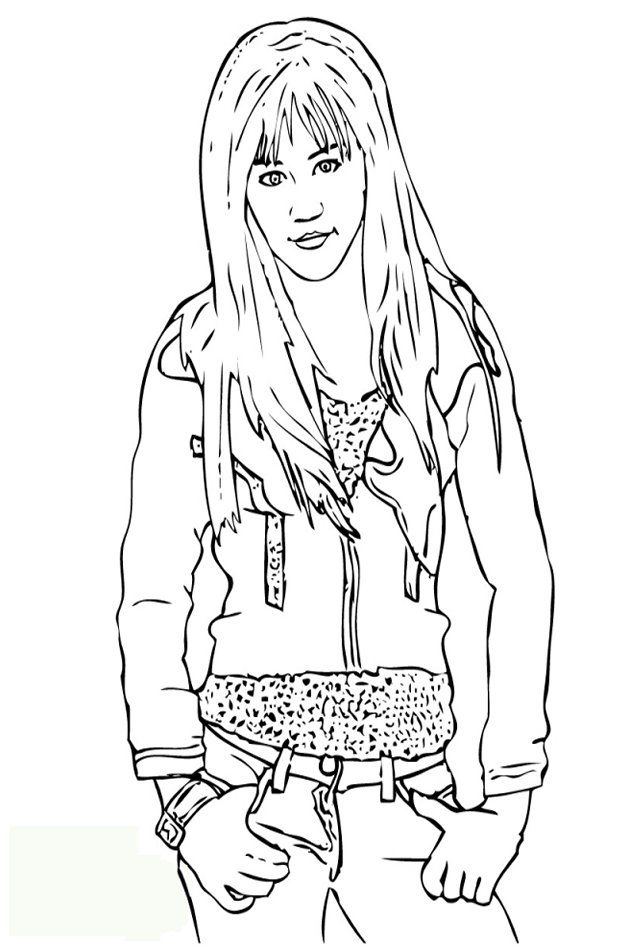 Hannah Montana Coloring Pages To Print Out Coloring Home