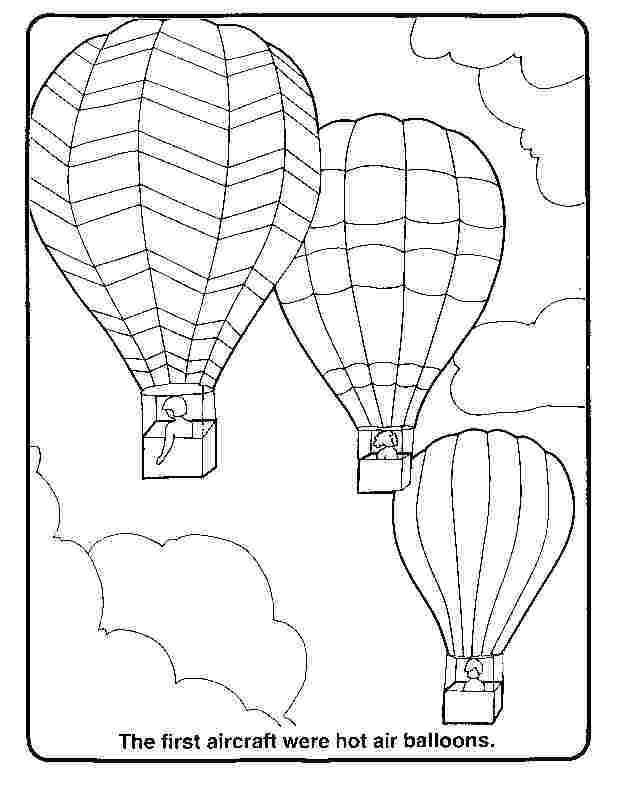Coloring Pages Hot Air Balloons